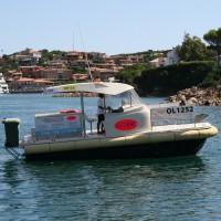 Imbarcazione Cosir raccolta rifiuti in mare